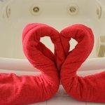 Jacuzzi Towel Heart