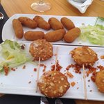 Croquettes and lollypop cheese