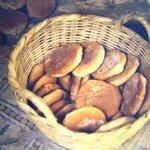 Freshly made bread/rolls. Marrakesh shuk