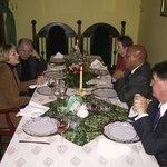 Afronding bezoek in Restaurant met gemeente