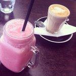 Good coffee and nice fruity drinks