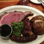 Bison prime rib was yummy