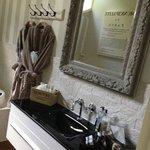 Cosy bathrobes in a luxury bathroom