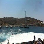 Departing from Santorini....