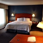 Lovely room at the Hampton Inn in Evanston Wyoming. Photo by Terry Hunefeld.