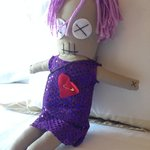 Little voodoo doll close up.