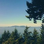 View from Chuckanut Drive south to the Edison Cafe.