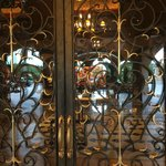 Gold leaf on front iron work