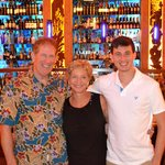 My guys and me in front of the magnificent bar