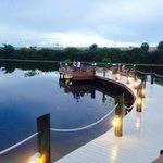 boardwalk by lake