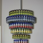 beer can chandelier