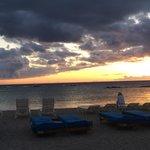 Sunset from the beachfront.