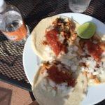 Tacos on the beach. Amazing.