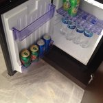 Mini fridge full, was kept stocked with every room cleaning or call to request.