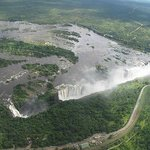Micro light flight over Zimbabwe side.