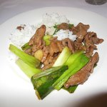 ginger beef with scallions