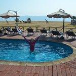Pool with twiga!