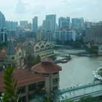 view from room to clarke quay