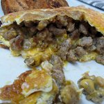 Yum! Want another one of these sausage and cheese omelets!