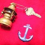 Adorable key chain for Lighthouse room