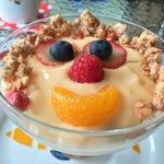 Fruit and yogurt  Parfait ready for its closeup