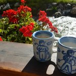 We enjoyed our coffee & hot tea in these delightful mugs on the deck out from our room by the ri