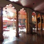 The beautiful hotel restaurant, overlooking alfresco area