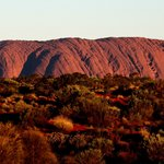 Uluru sunset from Sounds of Silence dinner location.