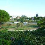 vue de l'arrière de l'hôtel sur le canal