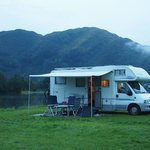Our campervan on the camping