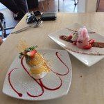 Ice cream tower & Strawberry Pannacotta finished our meal perfectly