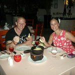 Our Fondu meal at La Isla.