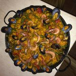 Paella made at hostel