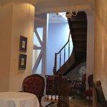 escalier pour la suite sur le toit