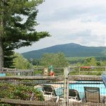 mt monadnock from the inn's swimming pool