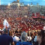 The Arena filling up before the start of Carmen