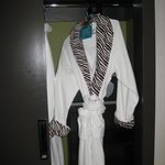 Bathrobes in the wardrobe
