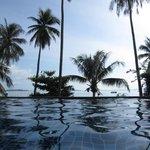 Infinity-edged pool