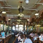 Majestic cafe hall in Porto center