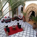 The riad's central court yard, view from our suite!