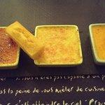 Dégustation de crèmes brulées (vanille, cerise, pêche/abricot)
