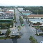 View of the town of Folly Beach