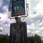 The pub sign plus recently added Long Man sign