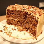 Carrot Cake with creamcheese icing and topped with Almonds