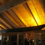 First Nations Canoe suspended from the ceiling