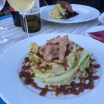 Salat with duck