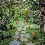 Garden pathway to the restaurant