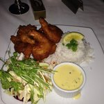 Adam ( Chef ) cooked the most tasty  Battered Prawns