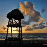 Sunrise on the beach at Dreams Riviera Cancun