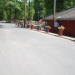 Main road to pool and store